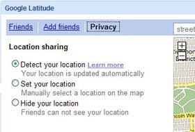 Tìm kiếm trong Google Latitude không cần GPS hoặc smart phone