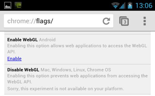 Google cho phép kích hoạt WebGL trong Chrome