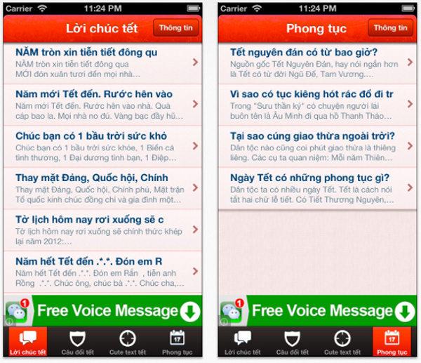 Những ứng dụng chúc Tết thú vị trên Android và iPhone