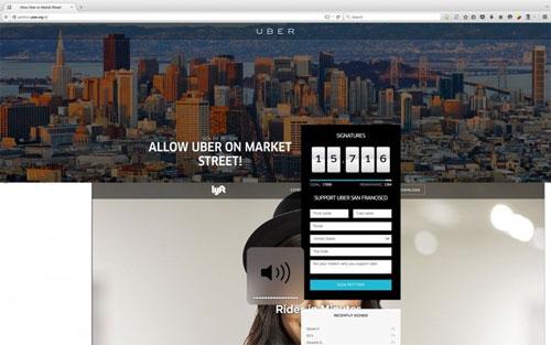 Trang web Uber bị hack, thay bằng quảng cáo của đối thủ Lyft