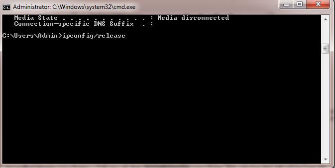 Cấp phát lại ip động bằng những câu lệnh trên DOS