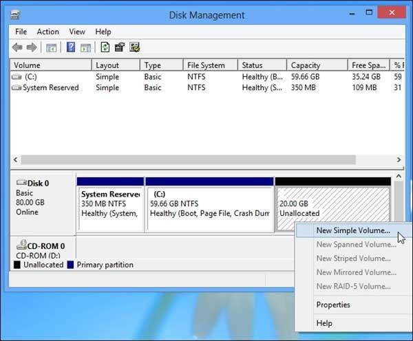 Làm thế nào để tạo một phân vùng dữ liệu riêng biệt trong Windows?