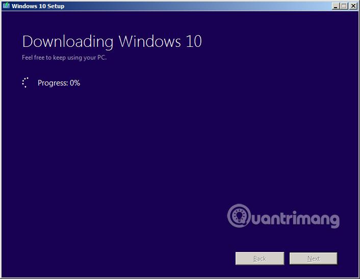 Đang tải file ISO Windows 10 vế máy tính