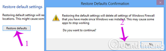 Restore defaults
