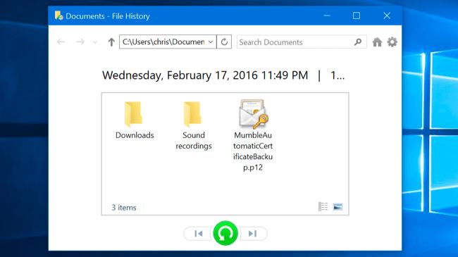 danh sách các file mà bạn có thể khôi phục
