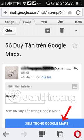 gửi bản đồ Google Maps trên PC tới điện thoại