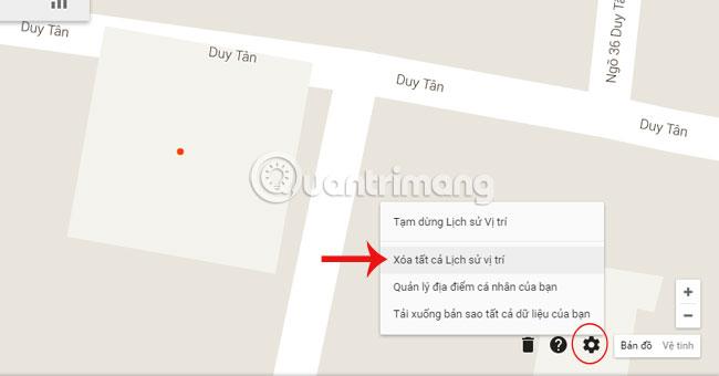 Location History tại Google Maps