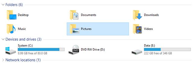 Ẩn một thư mục bất kỳ trong This PC