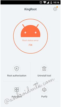 Nhấn chọn biểu tượng KingRoot để mở ứng dụng