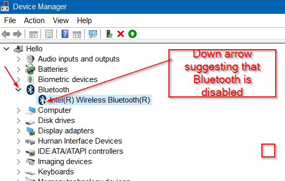 kích đúp chuột vào biểu tượng Bluetooth để xem tên phần cứng Bluetooth