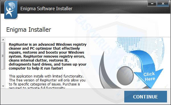 kích đúp chuột vào RegHunter-Installer.exe để bắt đầu quá trình cài đặt chương trình