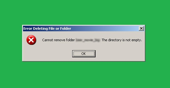 """lỗi """"Cannot delete / Access denied"""" hay """"Cannot delete folder: the directory is not empty"""""""
