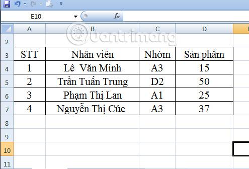 hàm Dmax trong Excel