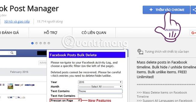 Dọn sạch tường Facebook chỉ bằng vài thao tác đơn giản