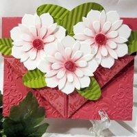 Khéo tay làm thiệp hoa nổi 3D tuyệt đẹp cho ngày 20 – 10