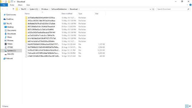 Không thể cài đặt Windows Update