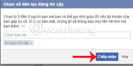 Cách lấy lại mật khẩu Facebook nhờ bạn bè