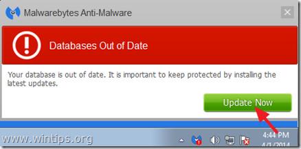 Quét và làm sạch máy tính của ban với Malwarebytes Anti-Malware
