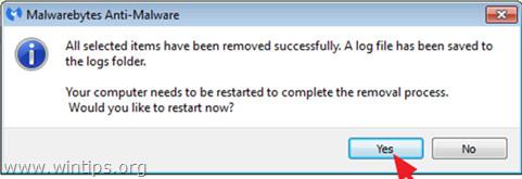 Sau khi quá trình kết thúc, tiến hành khởi động lại máy tính