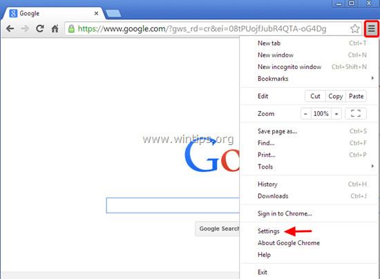 Trên trình duyệt Chrome