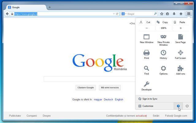 Trên trình duyệt Firefox