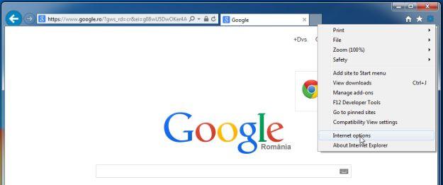 Trên trình duyệt Internet Explorer