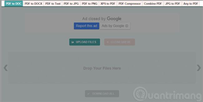 Chọn định dạng để chuyển đổi PDF