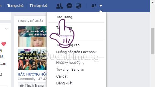 Tạo trang trên Facebook