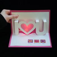 Làm thiệp nổi 3D dành tặng người yêu trong ngày Valentine