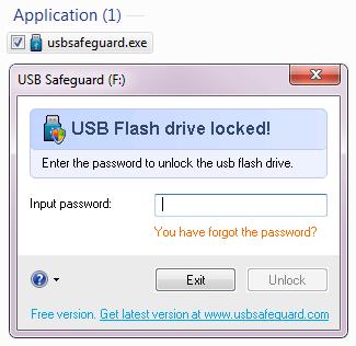 Khóa USB bằng USB Safeguard