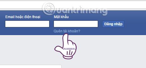 Quên mật khẩu tài khoản Facebook