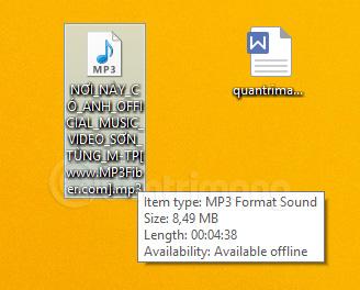 File nhạc tải về trên máy tính