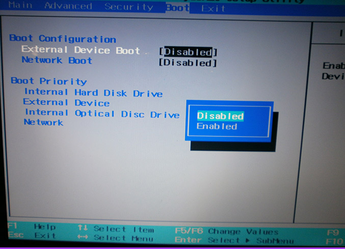 External Device Boot