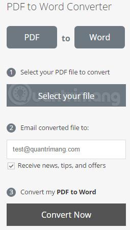 Chọn file PDF cần chuyển đổi sang Word