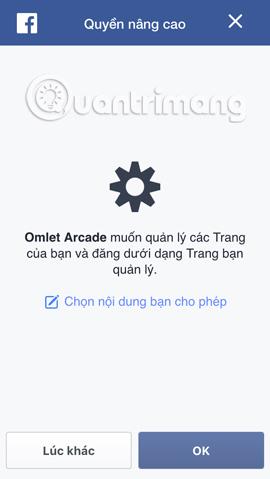 Quản lý trên Omlet Aracde