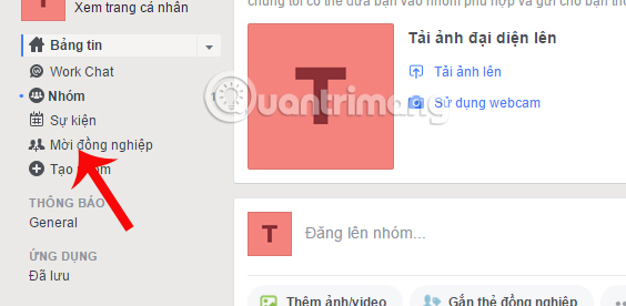 Mời đồng nghiệp tham gia Facebook Workplace