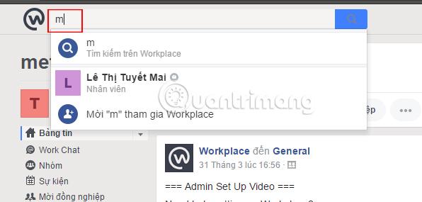 Tìm kiếm trên Workplace