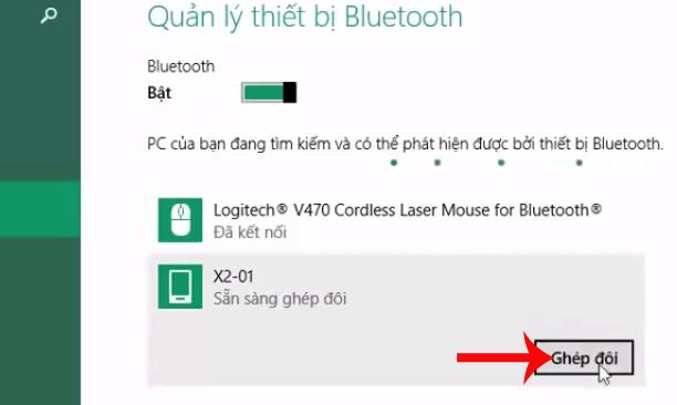 Ghép đôi với thiết bị Bluetooth