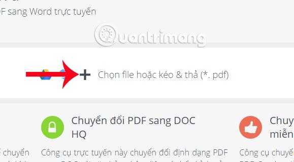 Tải file PDF lên PDF Candy