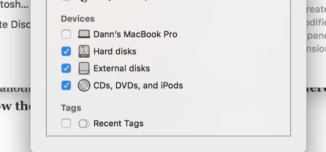 Hiển thị các ổ đĩa trên Mac