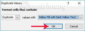 Chọn màu cho dữ liệu trùng lặp