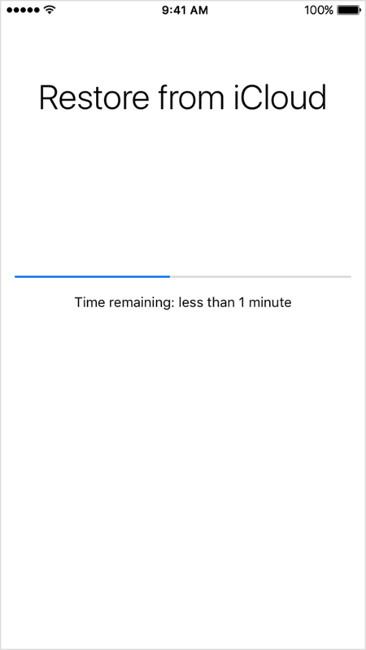Khôi phục dữ liệu từ iCloud