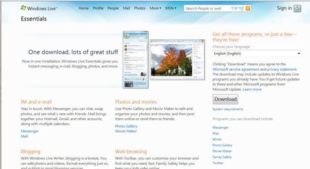 Ứng dụng Windows Live Essentials