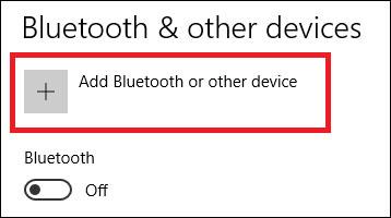 Thêm Bluetooth hoặc thiết bị mới