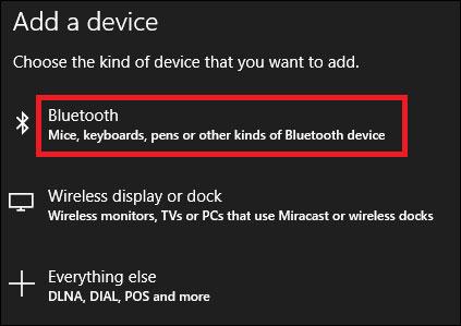 Danh sách thiết bị kết nối Bluetooth tìm được