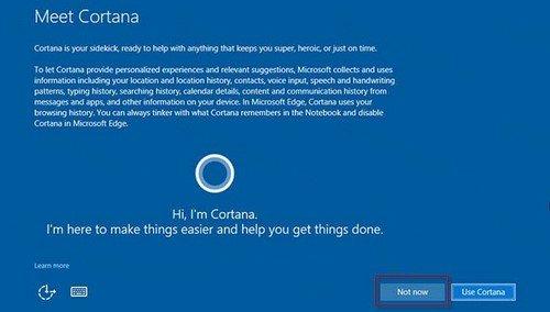 Giao diện Cortana