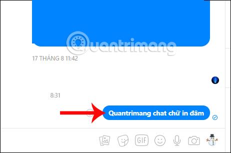Chat chữ in đậm trong Messenger