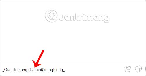 Cú pháp chữ in nghiêng Messenger