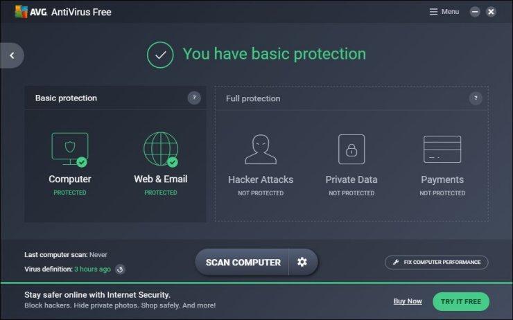 Phần mềm diệt virus miễn phí AVG Anti-Virus Free Edition
