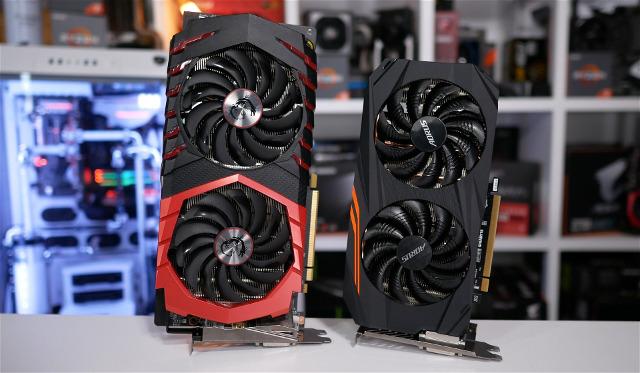 Card đồ họa GTX 1060 và RX 580